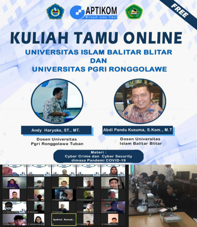KULIAH TAMU ONLINE Bersama Universitas PGRI Ronggolawe Tuban dan Universitas Islam Balitar Blitar